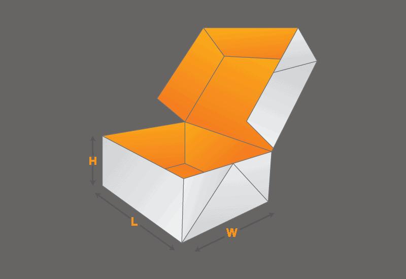 six corner box template