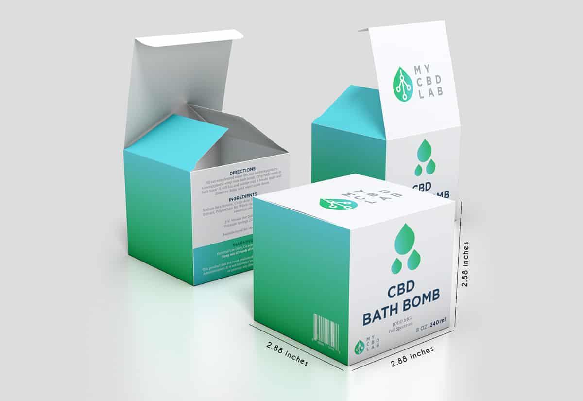 Custom CBD Bath Bomb Boxes