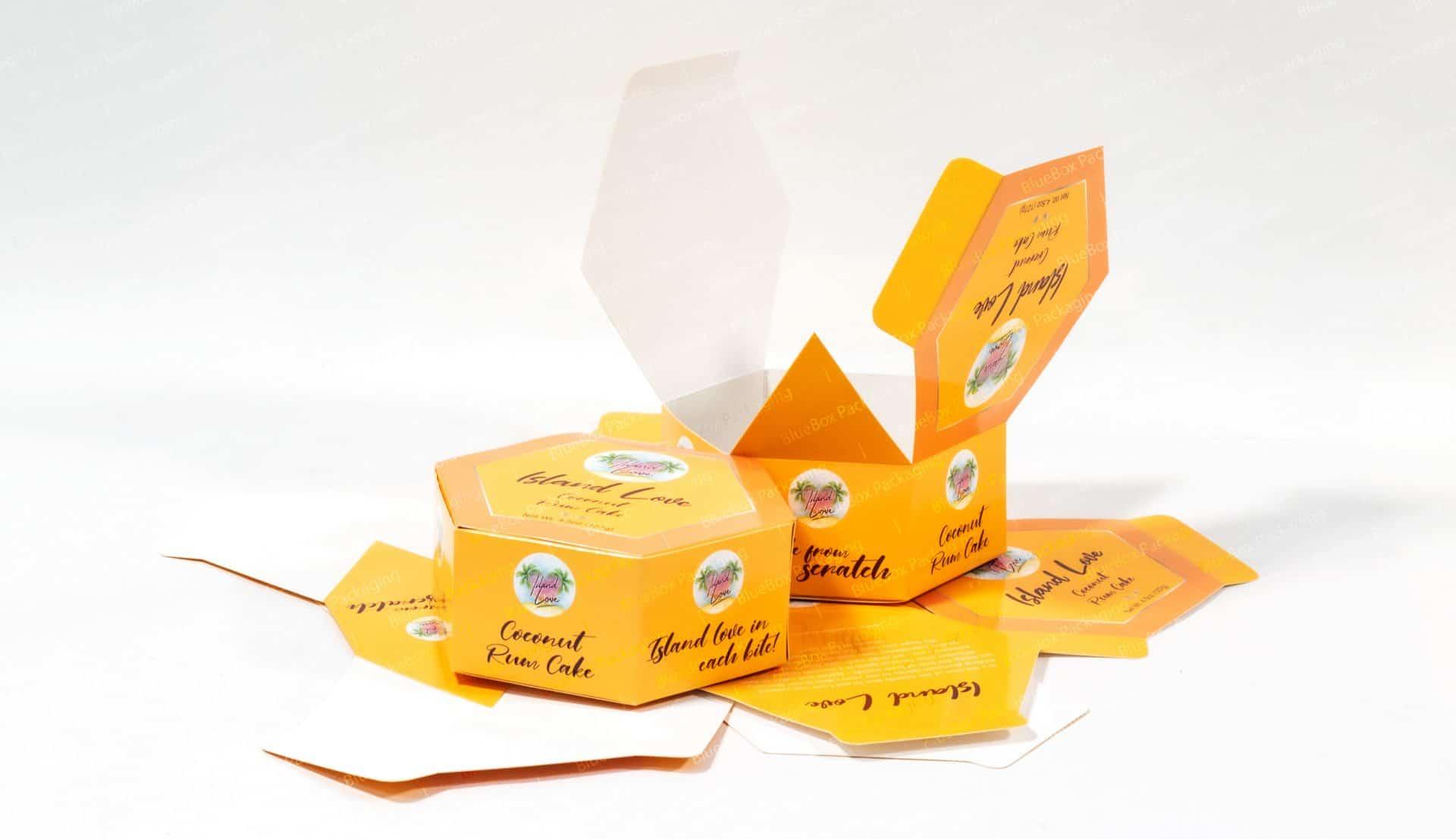 cardboard hexagon boxes