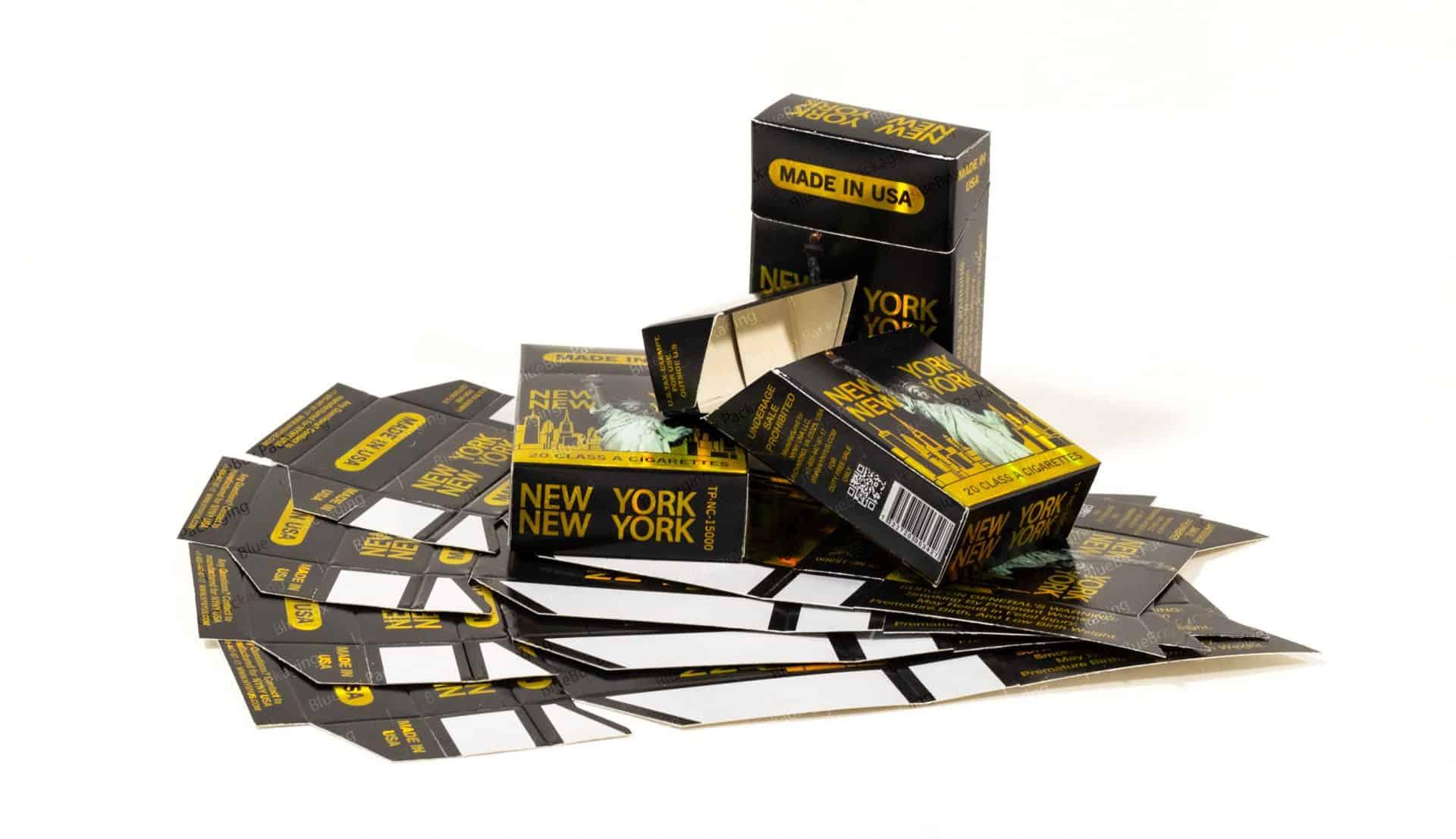 metalize cigarette box
