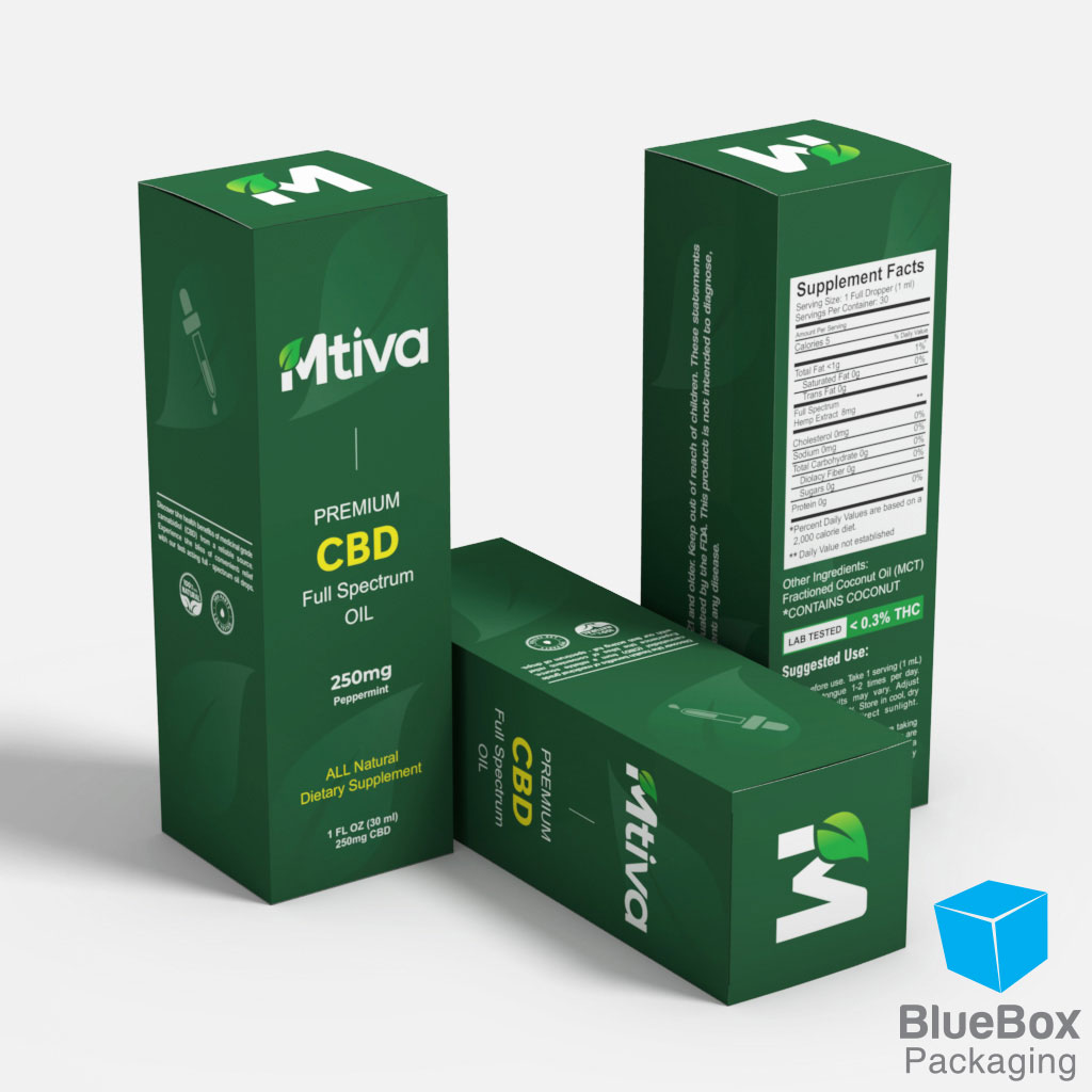 Blue Box Packaging_ Mtiva CBD Oil_Green