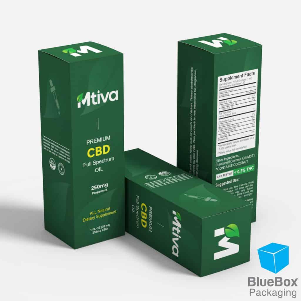 Mtiva cbd oil custom printed cbd boxes sticker labels