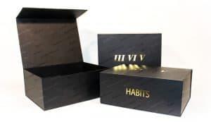 metalized folding boxes